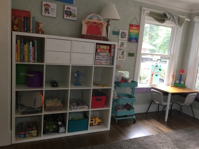 We've had this IKEA KALLAX system for several years, and it's perfect for selecting a few items at at time!